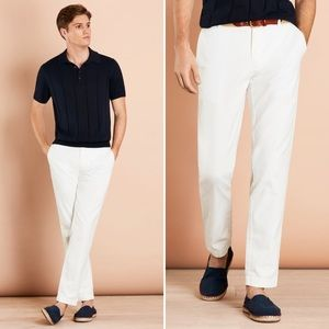 Brooks Brothers Garment-Dyed Cotton-Linen Chinos